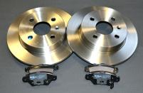 Paket 1<br>Bromsskivor 240 mm + Bromsbeläggsats bakaxel OPEL Astra G