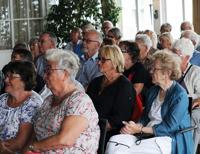 Sommarmötet var välbesökt. Det hölls i stora mötesrummet på Grand Hôtel. Foto Christer Wallentin