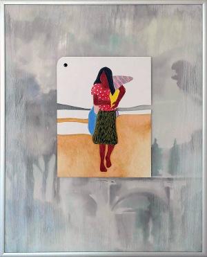 Målning av Cesar Antonio Ventura