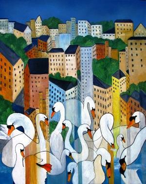 Målning av Gritt Madsen.