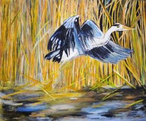 Målning av Gunnel Strandlund.
