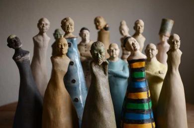 Skulptur av Jens Wollinger.