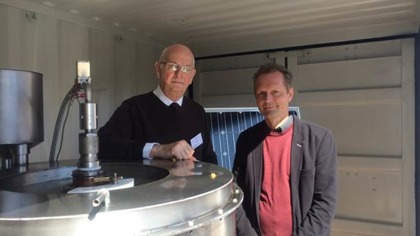 T.L CEO and inventer Rolf Ingeson and project manager and professor Mats Jackson at MDH