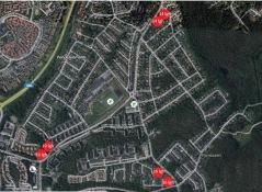 Karta över planerade tillfälliga boenden i Vendelsömalm