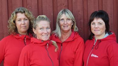 Viktoria Bäcklund, Louise Åström, Iris Westman och Jeanette Danielsson.