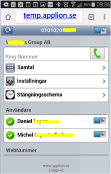 Temporärt telefonnummer - TEMP