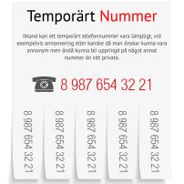TEMPORÄRT TELEFONNUMMER