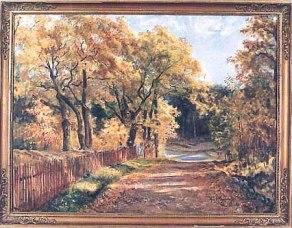 Trädgårdsvägen mot Klövervägen, 1931.