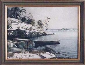 Kragenäsbadet vintertid, 1934