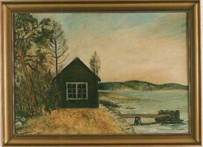 Bod och brygga vid Kragenäsvarvet, 1941.