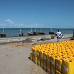 watercans at Bagamoyo beach