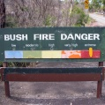 Bush fire danger