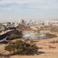 City view from fortress in Suwon