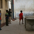 children playing in Stonetown