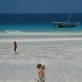 walk at the beach Zanzibar
