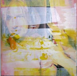 "Fra serien ""Red words"" (olje på lerret, 60 cm x 60 cm, 2006)"