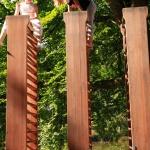 Molly Haslunds tre dubbla ribbstolar Foto: Ingrid Forfang