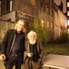 Orion Righard og legendariske Fred Bervoets utenfor akademiet