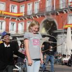 Såpeboblekunstner i Madrid, Foto: Ingrid Forfang