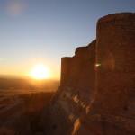 Castillo de Chinchilla de Monte-Aragón i solnedgang Foto: Ingrid Forfang