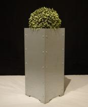 Blomkruka/ Planteringskärl, Galvaniserad plåt