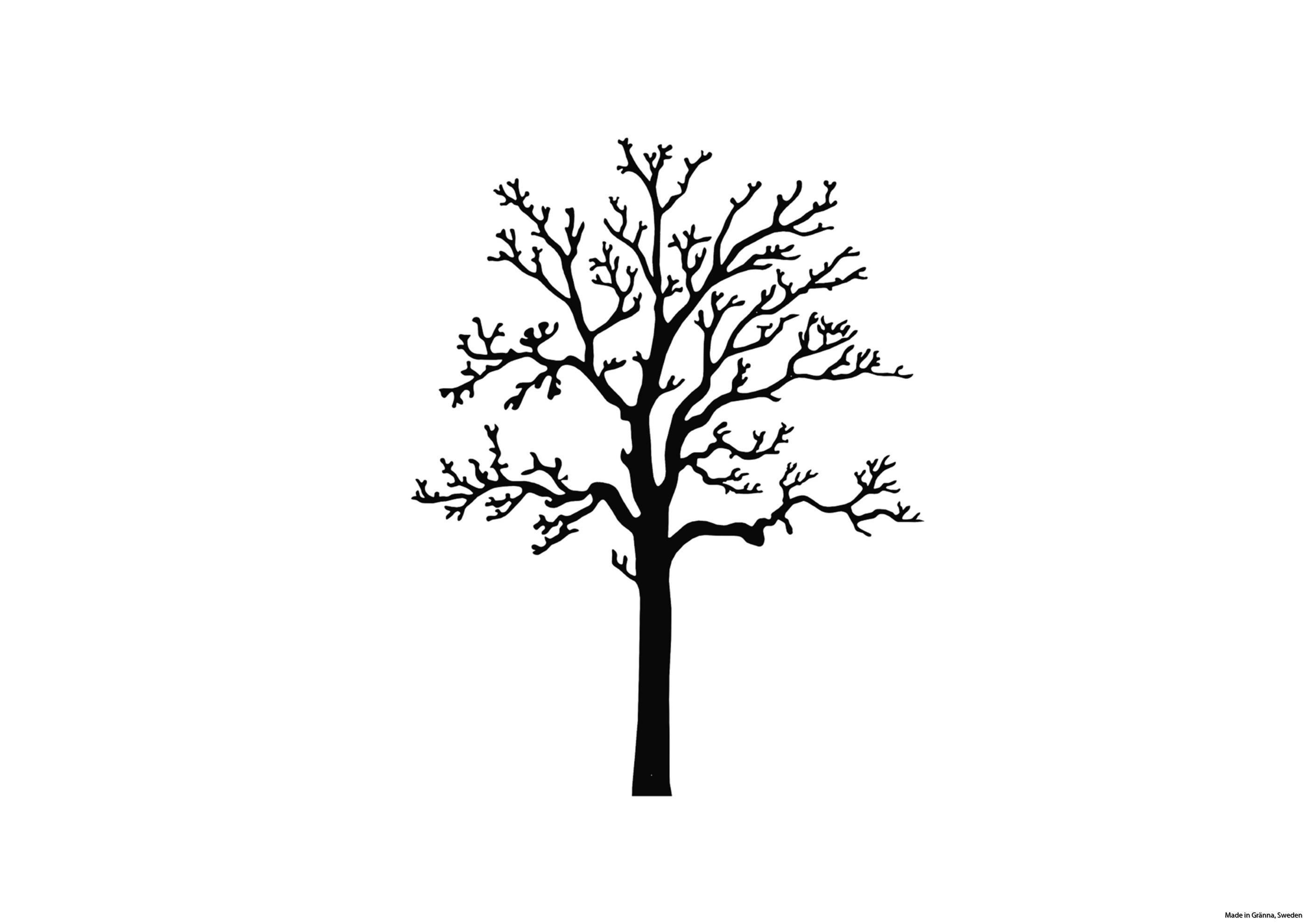 Svart väggträd Ek