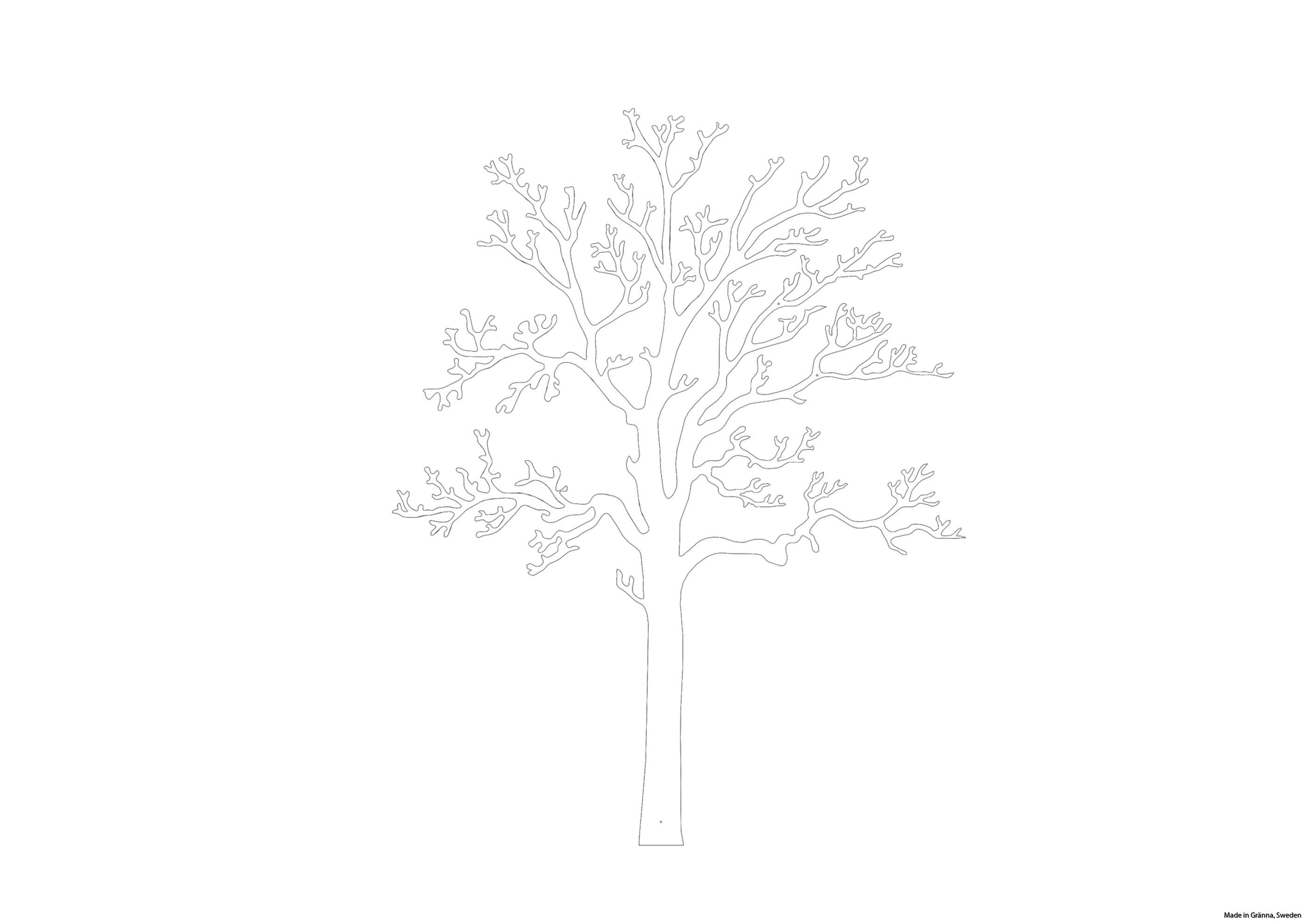Vitt väggträd Ek