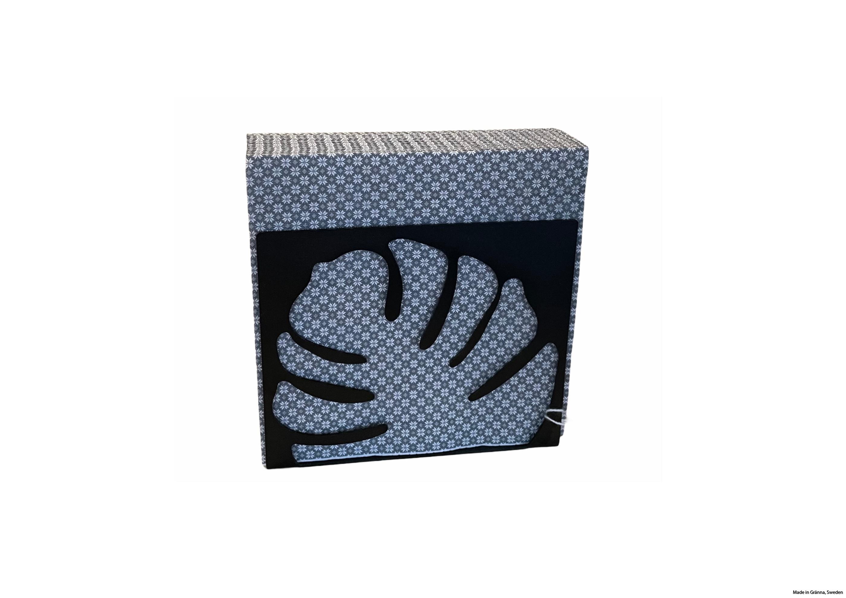 servettställ svart med servetter ram