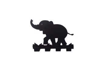 Väggkrok, Elefanter - Svart Mammaelefant