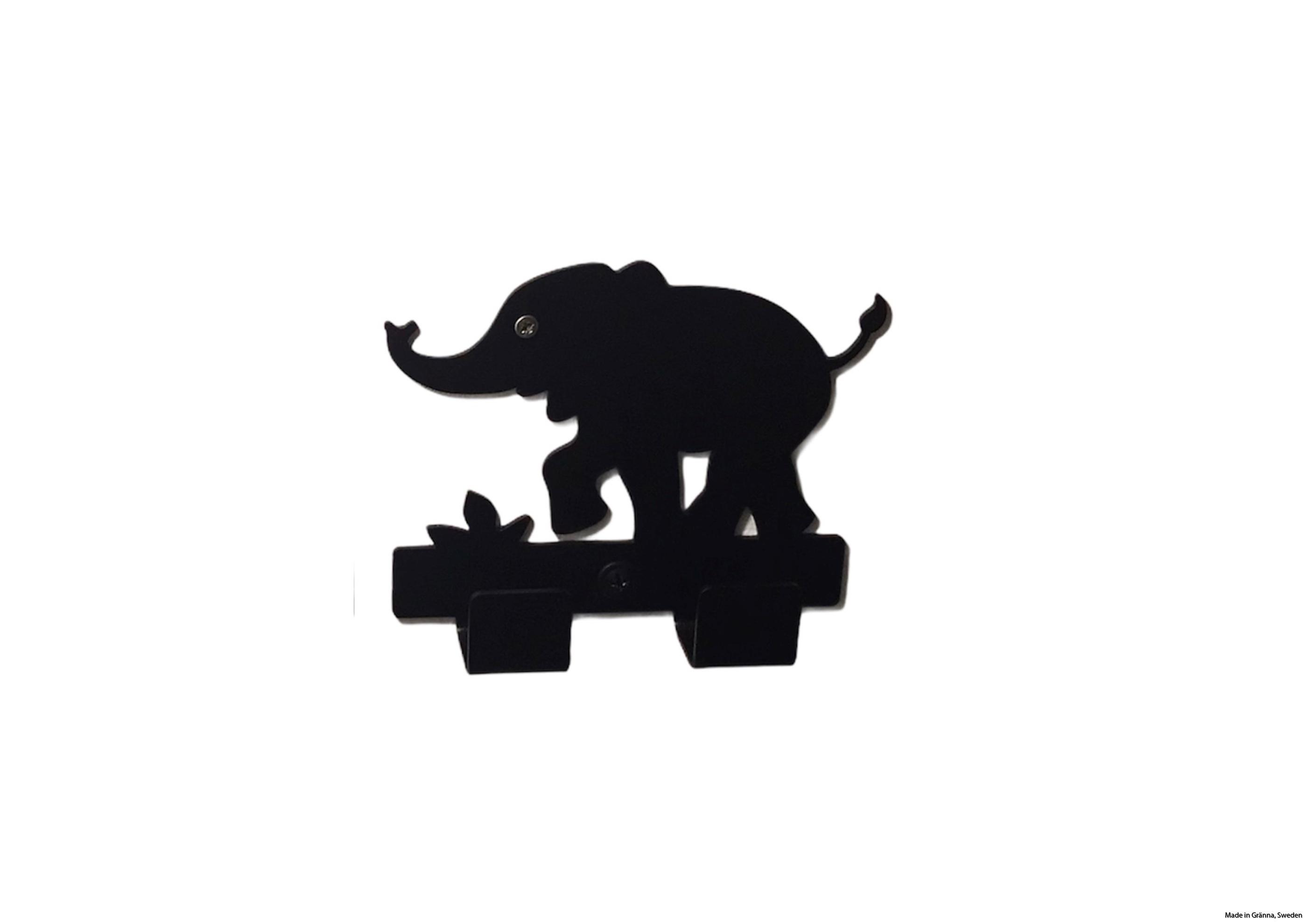 Svart babyelefant