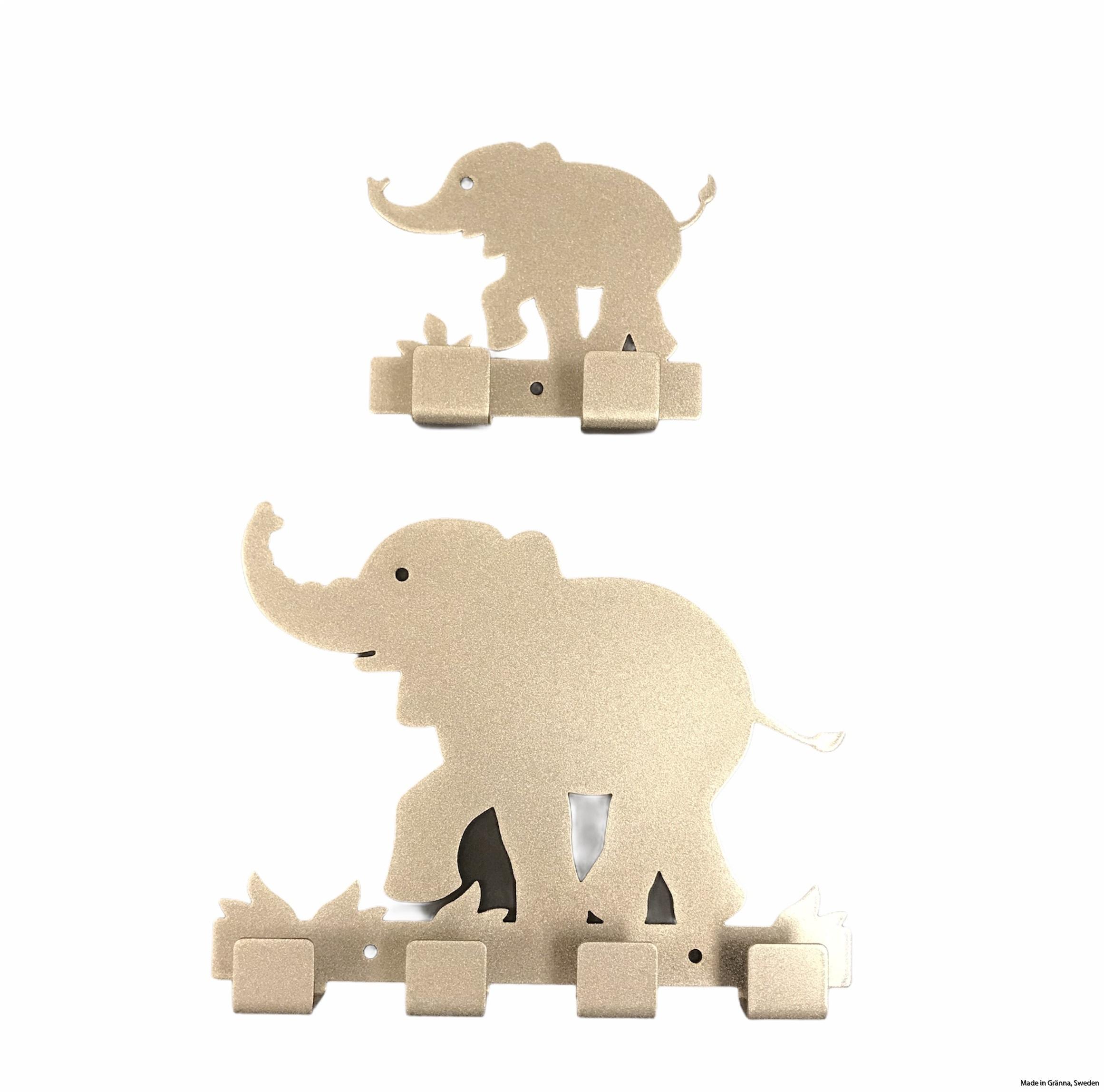 Stor och liten elefant silvergrå