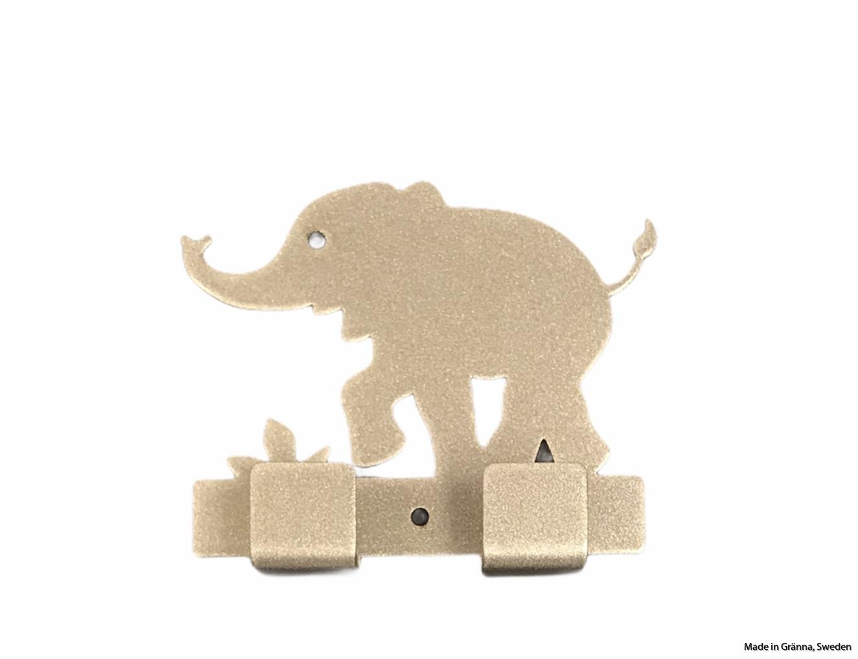 Silvergrå babyelefant