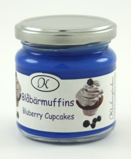 Doftljus, blåbärsmuffins -