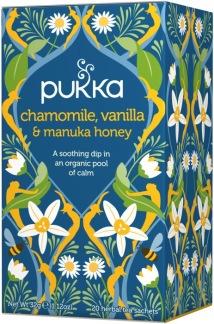 Chamomile, Vanilla & Manuka Honey örtté -