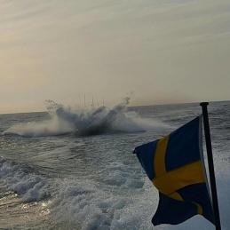 Dykning i liten våg utanför Hävringe.