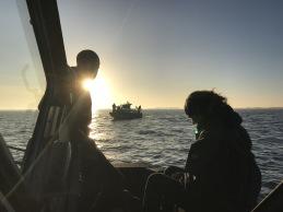 Bogseringsövningar på Ålandshav med Sjövärnskåren i November.