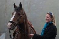 Vår tränare och förebild Birgitta Järnåker & hennes Queen Karamelle.    Foto: Yvonne Odsberg