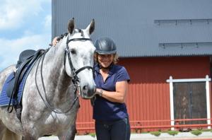 """Lena & """"hennes"""" Lusitano skolhäst från Sparreholm"""