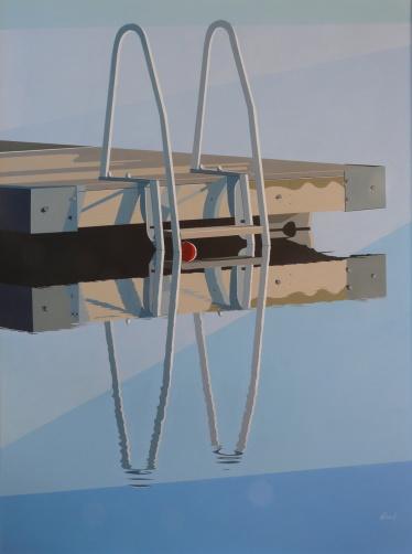Akryl på duk, 120x90 cm