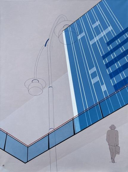 Akryl på duk, 90x120 cm