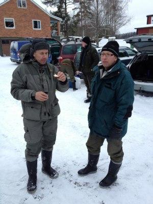 Fr. v. Tvåan Jörgen Andersson och ettan Jan Rönnbäck