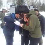 Timo, Lotta, Mats o Göran studerar kartan fredag