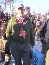 Gösta vid OS-segern 2008.