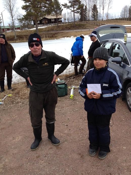 Jan-Olov och Rasmus stoltserar efter tävlingen