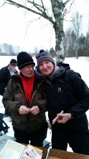Krister Bergman tillsammans med dagens totalsegrare Karl-Olov Wikström