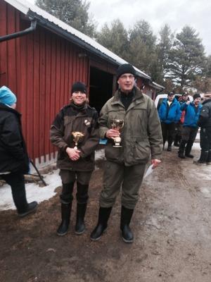 Dagens segrare Malin Granström och Leif Lothström