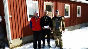 Herrpallen från höger: Ulf Hedlund trea, Jonas Gustafsson tvåa och Tobbe Toresson etta