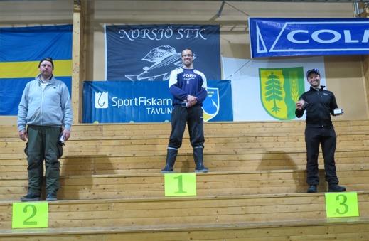 Herrseniorpallen 2015: Thomas Larsson (Nora gyttrop), Tomas Jonsson (Storfiskarna) & Martin Södergårds (Svegs SFK)