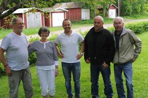 Fr v. Börje Nilsson, Sylvia Nilsson, Martin, Lasse Gullstrand och Janne Lindgren
