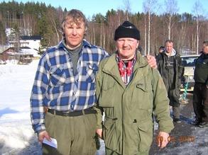 Vinnare i 2014 års Pimpelsport cup, Janne Johansson, t.v. på bilden.